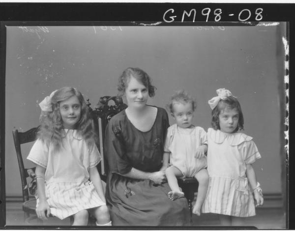 PORTRAIT OF WOMAN AND THREE CHILDREN, 'WYATT'