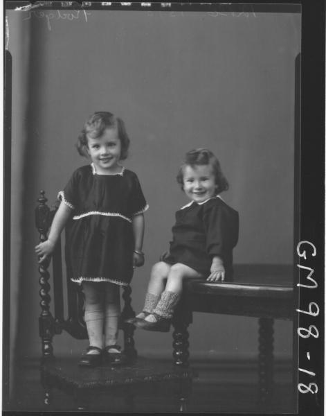 PORTRAIT OF TWO CHILDREN, 'RODGERS'