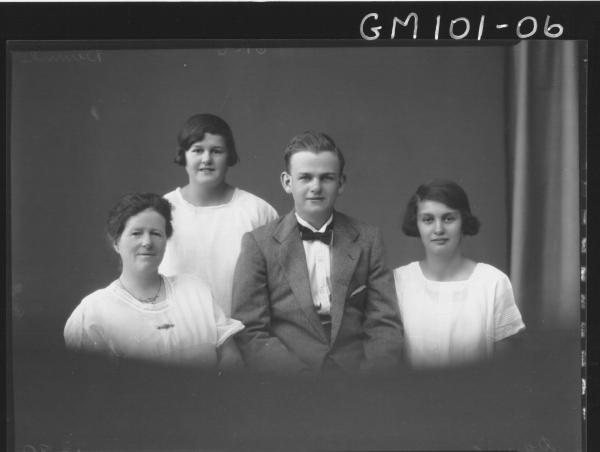 PORTRAIT OF MAN AND THREE WOMEN, DUNNE