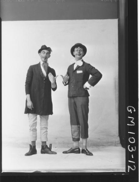 PORTRAIT OF TWO MEN FANCY DRESS, AUGUSTINE & PATTERSON