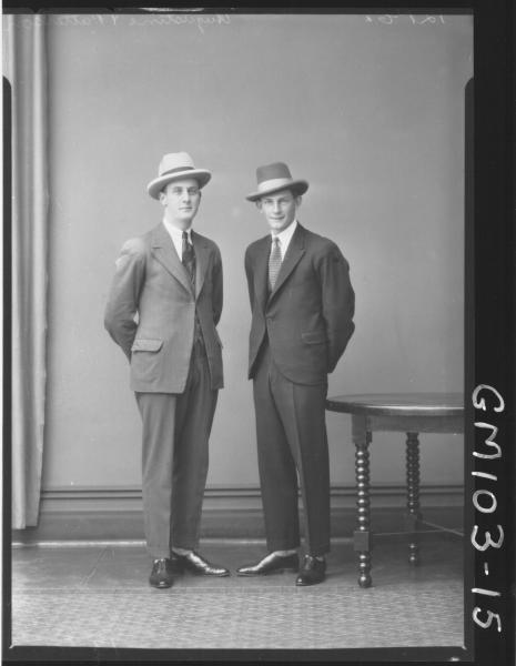PORTRAIT OF TWO MEN, AUGUSTINE & PATERSON