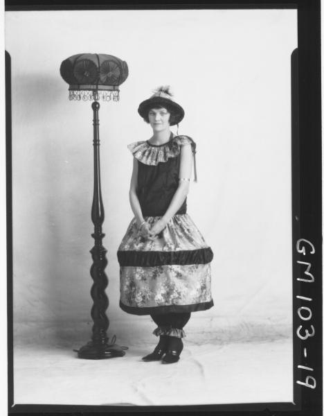 PORTRAIT OF WOMAN FANCY DRES, AUGUSTINE