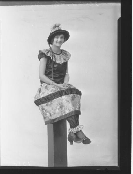 PORTRAIT OF WOMAN FANCY DRESS, AUGUSTINE
