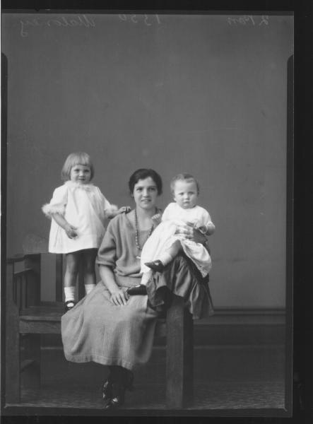 PORTRAIT OF WOMAN AND TWO CHILDREN, MALONEY