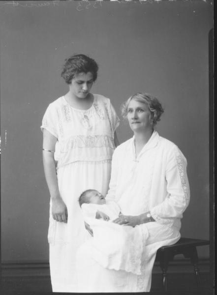 PORTRAIT OF TWO WOMEN AND BABY, FAWCETT