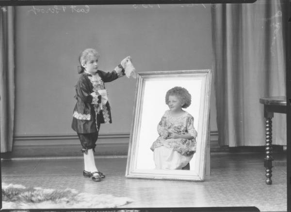 PORTRAIT OF TWO CHILDREN FANCY DRESS, EAST & SCROOP