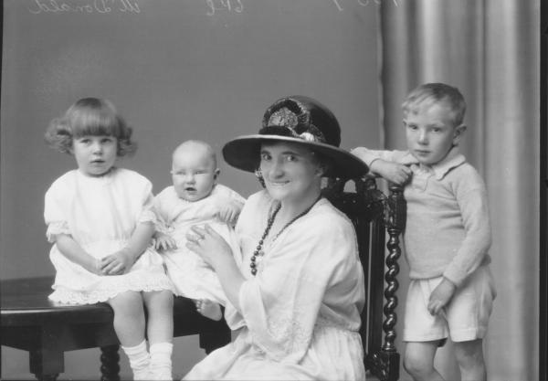 PORTRAIT OF WOMAN, THREE CHILDREN, MCDONALD