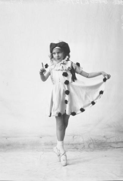 PORTRAIT OF GIRL FANCY DRESS, MCLEOD