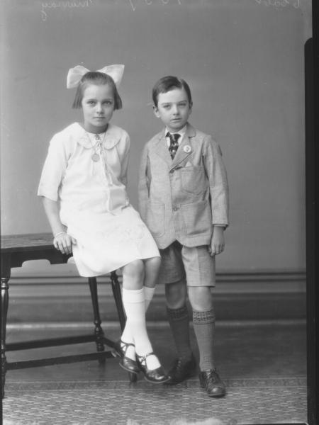PORTRAIT OF TWO CHILDREN, MURRAY