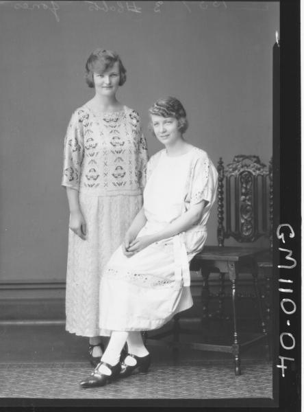 PORTRAIT OF TWO WOMEN, JONES