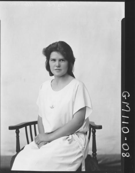 PORTRAIT OF WOMAN, MORROW