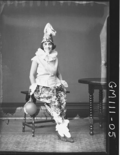 PORTRAIT OF WOMAN FANCY DRESS, JACKSON