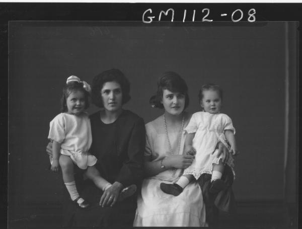 PORTRAIT OF TWO WOMEN, TWO CHILDREN, QUINN