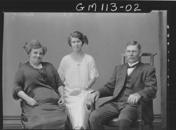 PORTRAIT OF MAN AND TWO WOMEN, SEABERG