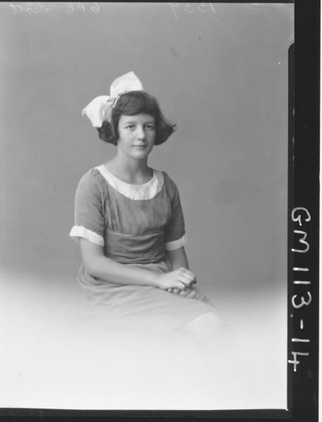 PORTRAIT OF GIRL, SCOTT