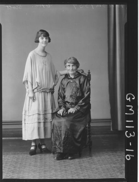 PORTRAIT OF TWO WOMEN, SCOTT