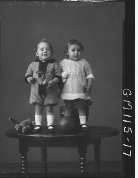 PORTRAIT OF TWO CHILDREN, HOCKING