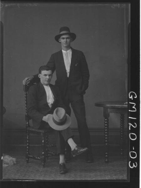 PORTRAIT OF TWO MEN, 'LONGWOOD'