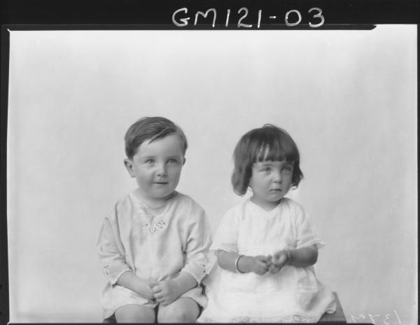 PORTRAIT OF TWO CHILDREN, 'LARAGY'