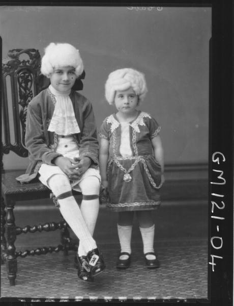 PORTRAIT OF TWO CHILDREN FANCY DRESS, 'LESLIE'