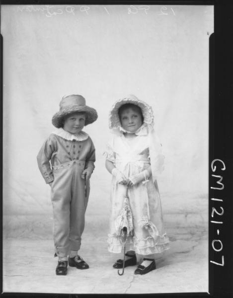 PORTRAIT OF TWO CHILDREN FANCY DRESS, 'LINTON'
