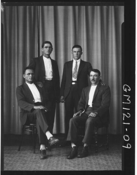 PORTRAIT OF FOUR MEN, 'GRQURCO'