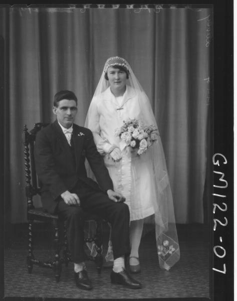 PORTRAIT OF BRIDE AND GROOM, 'DAVEY'