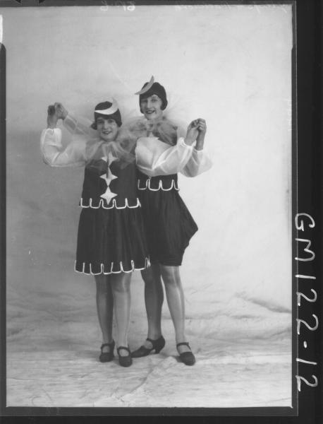 PORTRAIT OF TWO WOMEN FANCY DRESS, 'GREEP' & 'PAVLINOVITCH'