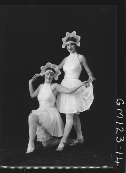 Portrait of two women, fancy dress 'Eastwood' & 'McCahon'