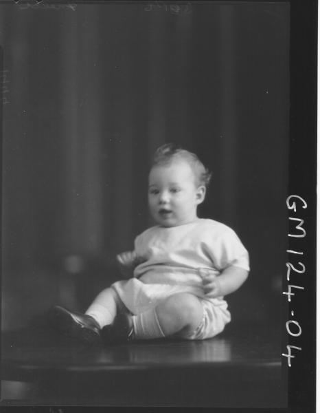 Portrait of baby 'Field'