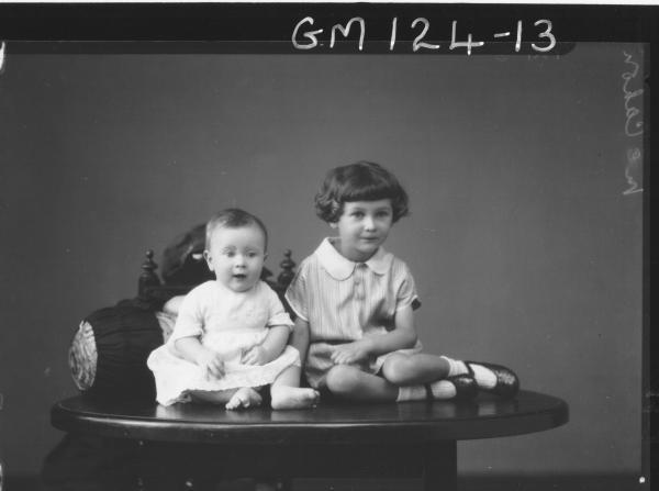 Portrait of two children 'McCahon'