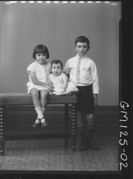 Portrait of three children 'McLean'
