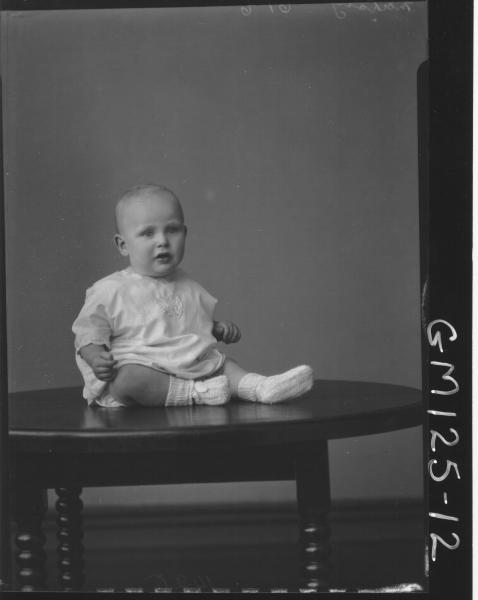 Portrait of baby 'McCahon'