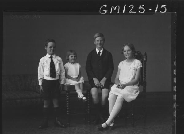 Portrait of four children 'Maloney'
