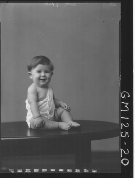 Portrait of baby 'Lay'
