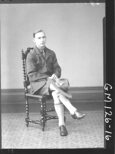 Portrait of man, boy scout 'McInerney'