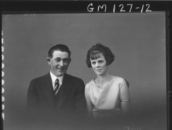 Portrait of man and woman 'McGrath'