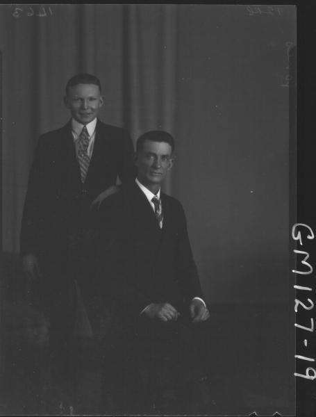 Portrait of two men 'Jones'