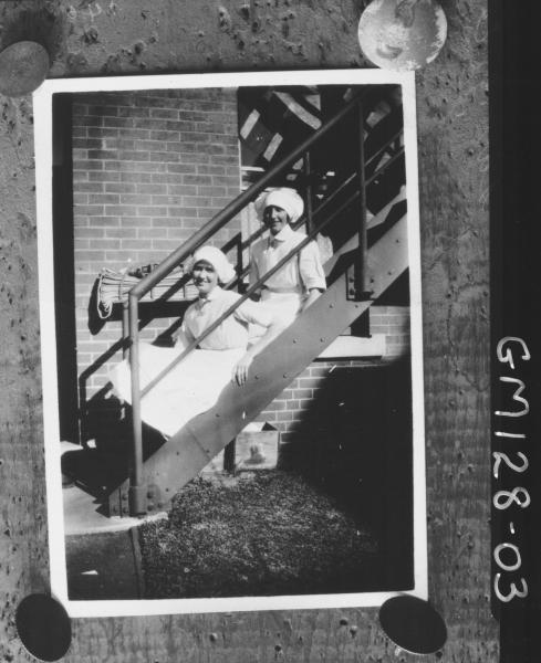 Portrait copy of two nurses 'Lawrence'