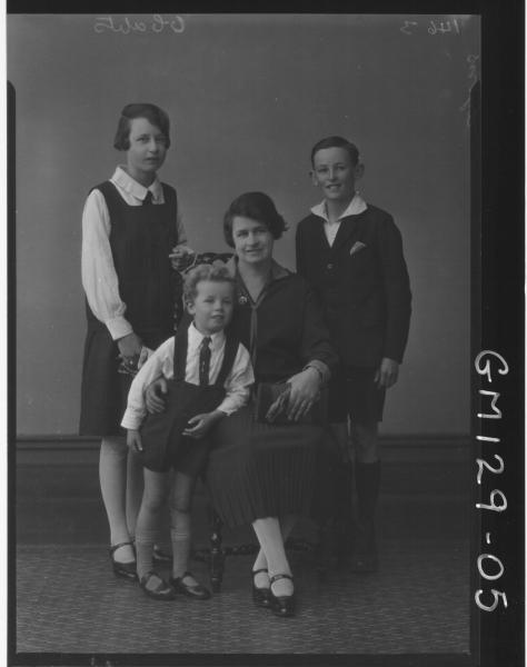 Portrait of woman and three children 'Lyons'