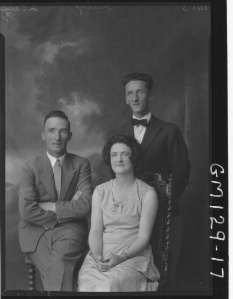 Portrait of woman and two men 'Kelly'