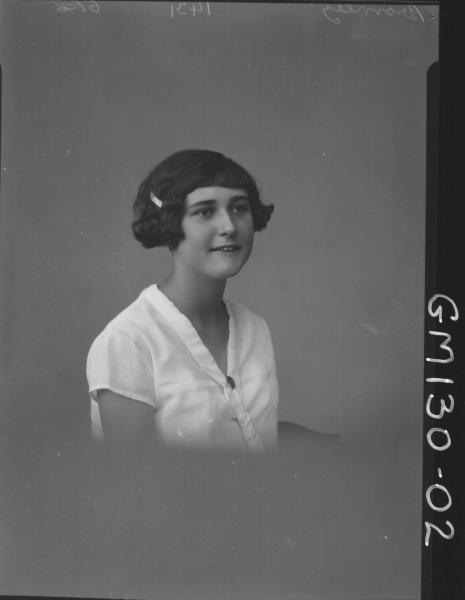 Portrait of girl 'Bromley'