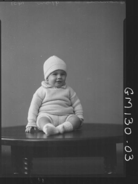 Portrait of baby 'Crombie'