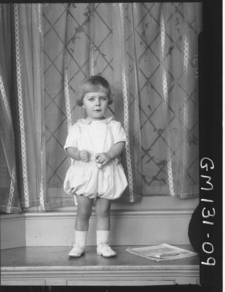 Portrait of child 'Clemenger'