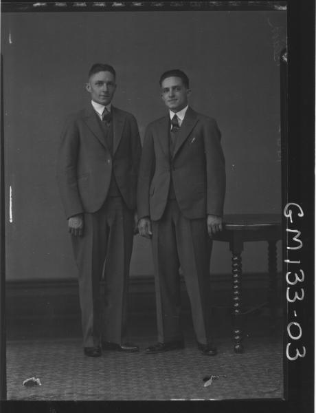 Portrait of two man 'Black'