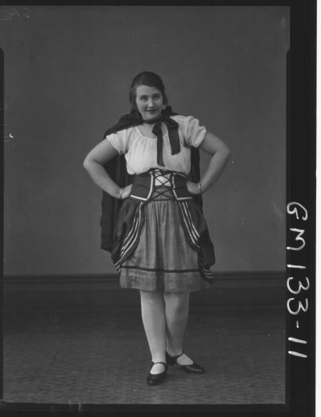 Portrait of woman in fancy dress 'Buckman'