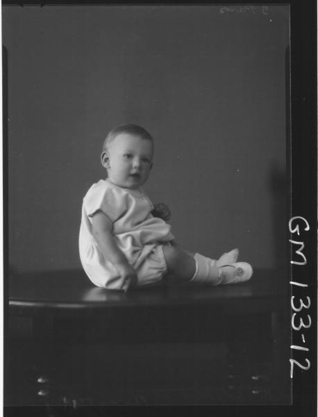 Portrait of baby 'Beresford'