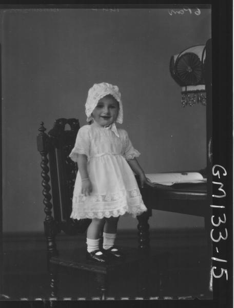 Portrait of child 'Bedderson'