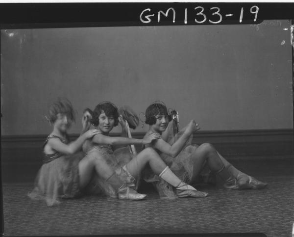 Portrait of three girl dancers 'Barger'