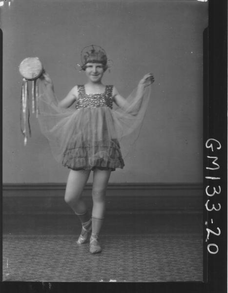 Portrait of girl dancer 'Barger'